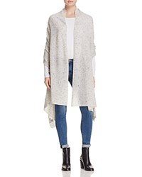 Bloomingdale's C By Cashmere Travel Wrap Light Grey Donegal