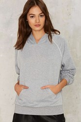 Camp Collection Hood Morning Raglan Sweatshirt Gray