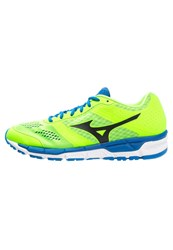 Mizuno Synchro Mx Cushioned Running Shoes Green Gecko Black Skydiver