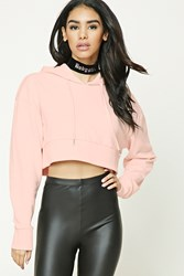Forever 21 Cropped Drawstring Hoodie