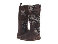 Sanuk Siena Boot Black Brown Navajo Women's Pull On Boots