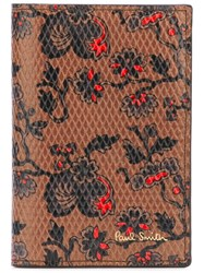 Paul Smith Floral Print Cardholder Brown