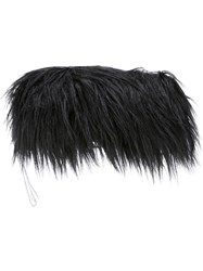 Maison Martin Margiela Mm6 Faux Fur Clutch Black
