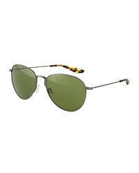 Barton Perreira Cruisaire Metal Aviator Sunglasses Vintage Green Pewter