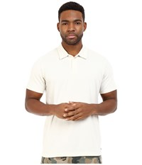 Rvca Sure Thing Ii Polo Silver Beach Men's Short Sleeve Knit Bone