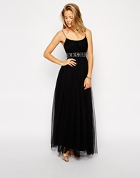 Needle And Thread Tulle Ballet Maxi Dress Black