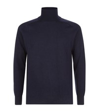 Ami Alexandre Mattiussi Paris Wool Cashmere Roll Neck Sweater Male Navy