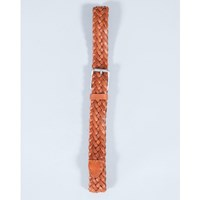 Selected Tan Woven Leather Belt