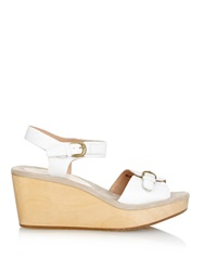 Rachel Comey Ogden Perforated Leather Wedges