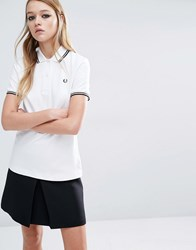 Fred Perry Twin Tipped Polo Shirt White Black