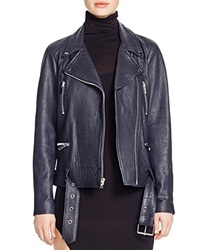 Elizabeth And James Corlyn Leather Moto Jacket French Navy