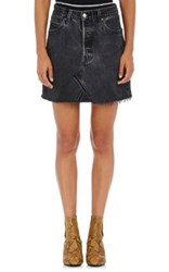 Re Done Women's Denim Miniskirt Black
