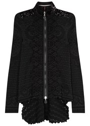 High Analys Black Stretch Lace Jacket