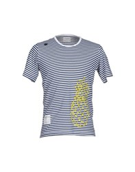 The Editor Topwear T Shirts Men Dark Blue
