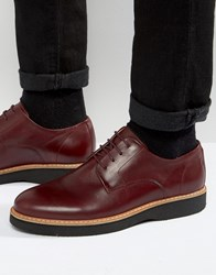 Zign Leather Derby Shoes Red