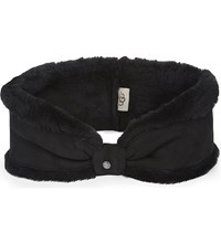 Ugg Shearling Headband Black
