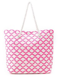Sub Beach Tote Bag Pink And Purple