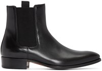 Marc Jacobs Black Leather Chelsea Boots