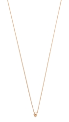 Ginette_Ny Mini Tube And Diamond Necklace Rose Gold Clear