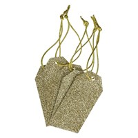 John Lewis Glitter Gift Tags Pack Of 5 Gold