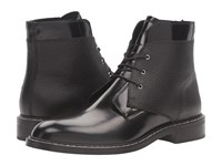Maison Martin Margiela Lace Front Flat Boot Black Spazzolato Leather