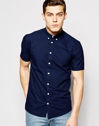 Minimum Oxford Shirt Short Sleeves Blue
