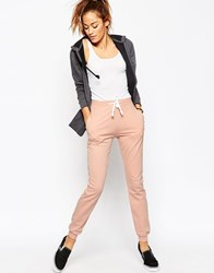 Asos Lightweight Joggers With Contrast Tie Pink