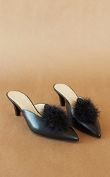 Trademark Suzanne Mule With Marabou Black