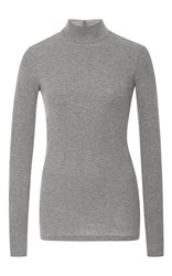 Atm Anthony Thomas Melillo Long Sleeve Mock Neck T Shirt Light Grey