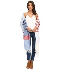 Steve Madden Chambray Stripe Day Wrap Red Women's Clothing