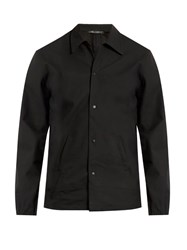 Longjourney Point Collar Leather Jacket Black