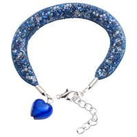 Martick Spacedust Heart Charm Bracelet Dark Blue