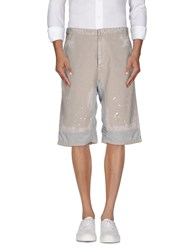 Diesel Black Gold Trousers Bermuda Shorts Men Dove Grey