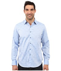 Robert Graham Cullen Sport Shirt Light Blue Men's Long Sleeve Pullover