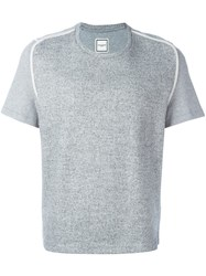 Wooyoungmi Knit Panel T Shirt Grey