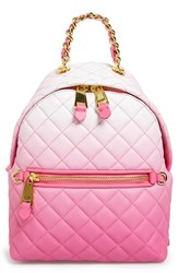 Moschino 'Letters' Degrade Quilted Nappa Leather Backpack