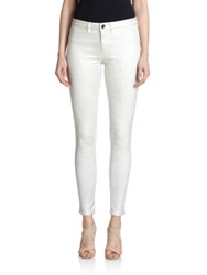 Elie Tahari Patterned Azella Jeans Optic White