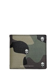 Alexander Mcqueen Camouflage Printed Leather Wallet