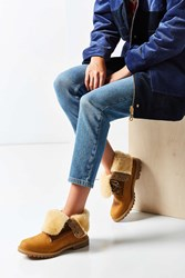Timberland Authentic Shearling Fold Down Boot Tan