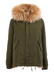 Mr And Mrs Italy Furred Collar Parka Coat Green