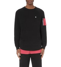 Crooks And Castles Bombay Layer Detail Jersey Sweatshirt Black