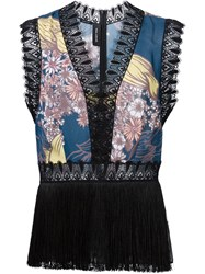 Yigal Azrouel Blooming Stargazer Top Blue