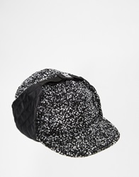 Asos Snapback Trapper In Grey With Nep Black