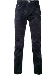 Loveless Camouflage Slim Fit Jeans Black