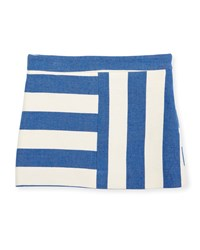 Milly Minis Striped Cotton Blend Mini Skirt Blue