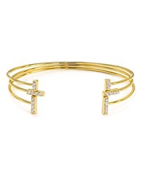 Jules Smith Designs Jules Smith Metal And Stone Bangles Set Of 3 Gold