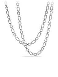 David Yurman Chain Cushion Link Necklace Silver
