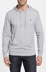 Men's Lacoste Jersey Hoodie Silver Chine