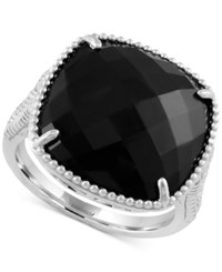Effy Collection Effy Onyx Drama Ring 6 1 2 Ct. T.W. In Sterling Silver