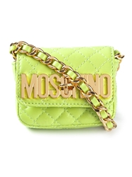 Moschino Mini Quilted Cross Body Bag Green